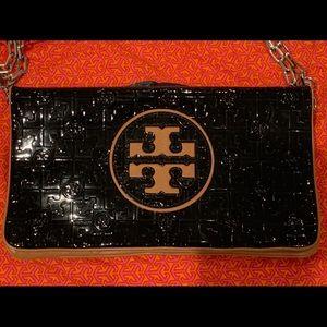 Tory Burch Black & Tan Leather Purse